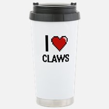 I love Claws Digitial D Stainless Steel Travel Mug