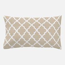 Beige (Khaki) Moroccan Pattern Pillow Case