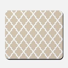Beige (Khaki) Moroccan Pattern Mousepad