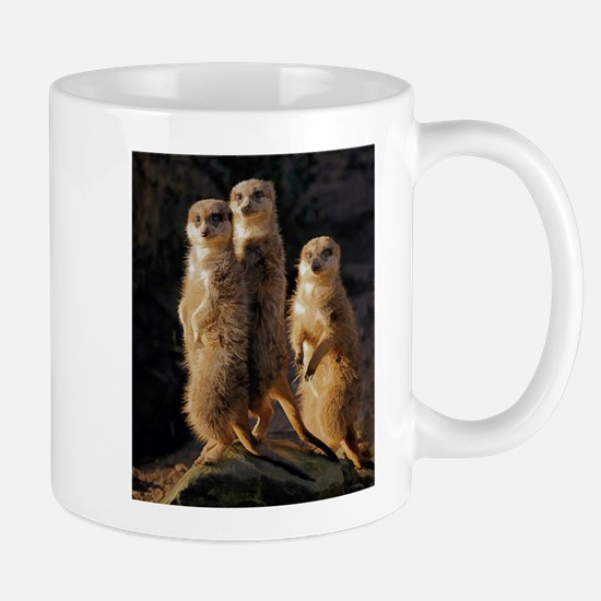 Sun Setting on the Meerkat Trio Mugs