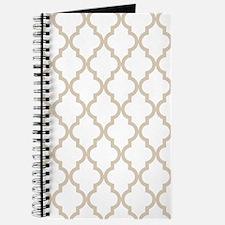 Beige (Khaki) Moroccan Pattern (Inverted) Journal