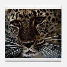 Spotted Cat of Mystery Silk Screen Tile Coaster