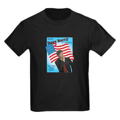 Dave Barry For President Kids Dark T-Shirt