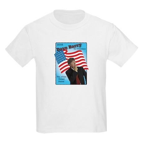 Dave Barry For President Kids Light T-Shirt