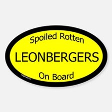 Spoiled Leonbergers On Board Oval Decal