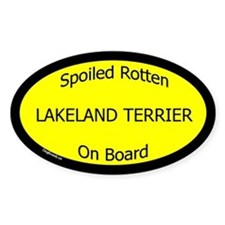 Spoiled Lakeland Terrier On Board Oval Decal