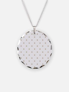 White & Beige (Khaki) Polka Necklace