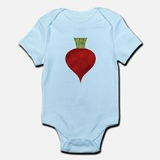 Graphic Red Beet with Chalk Textured Dra Body Suit