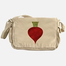 Graphic Red Beet with Chalk Textured Messenger Bag