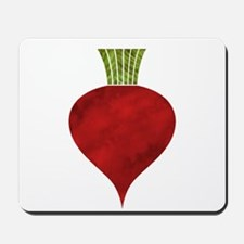 Graphic Red Beet with Chalk Textured Dra Mousepad