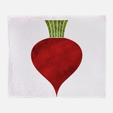 Graphic Red Beet with Chalk Textured Throw Blanket