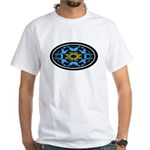 Kaleidoscope 1 White T-Shirt