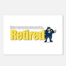'Retirement Highway 3 :-)' Postcards (Package of 8