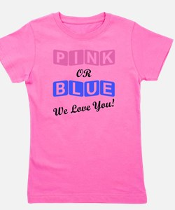 Funny Blue and gray Girl's Tee