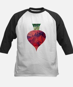 Graphic Red Beet in Polygon Mosaic Baseball Jersey