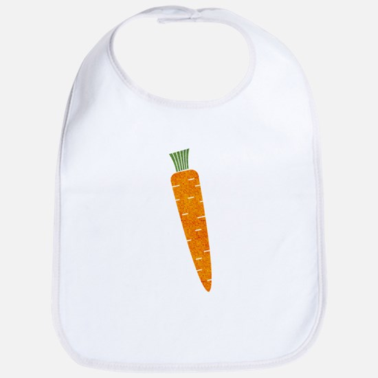 Graphic Orange Carrot with Polka Dots Bib
