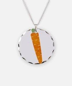 Graphic Orange Carrot with P Necklace