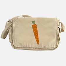 Graphic Orange Carrot with Polka Dot Messenger Bag