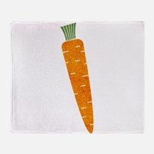 Graphic Orange Carrot with Polka Dot Throw Blanket