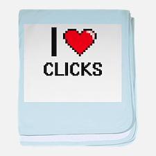 I love Clicks Digitial Design baby blanket
