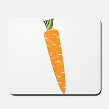 Graphic Orange Carrot Chalk Textured Ske Mousepad
