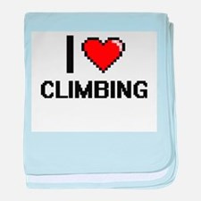 I love Climbing Digitial Design baby blanket