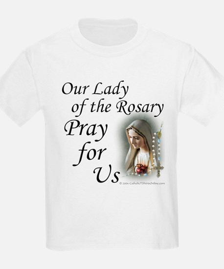 Our Lady of the Rosary (2) Kids T-Shirt