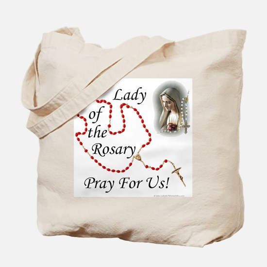 Our Lady of the Rosary Tote Bag