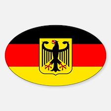 Deutschland German Flag Oval Decal