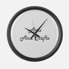 Arts And Crafts Classic Retro Des Large Wall Clock