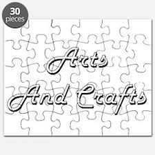 Arts And Crafts Classic Retro Design Puzzle