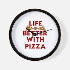 Funny Pizza Wall Clock