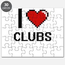 I love Clubs Digitial Design Puzzle