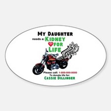 personalize/donor Sticker (Oval)