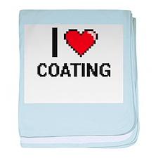 I love Coating Digitial Design baby blanket