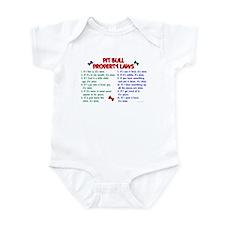 Pit Bull Property Laws Infant Bodysuit
