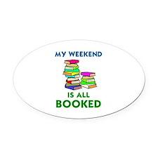 Unique Book Oval Car Magnet
