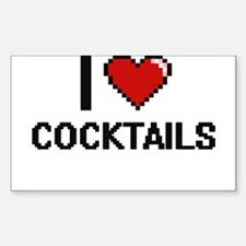 I love Cocktails Digitial Design Decal
