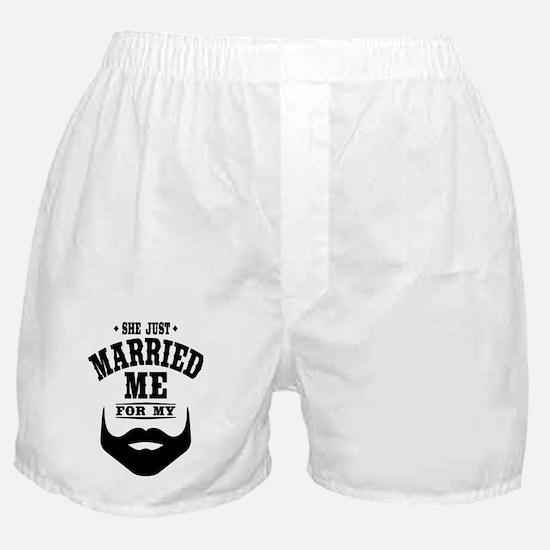 Married Beard Boxer Shorts