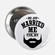 "Married Beard 2.25"" Button"