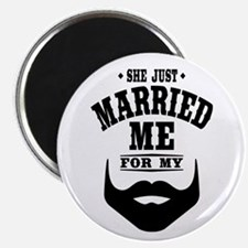 "Married Beard 2.25"" Magnet (100 pack)"
