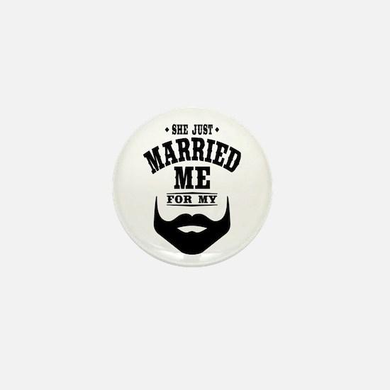 Married Beard Mini Button