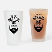 Married Beard Drinking Glass
