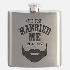 Married Beard Flask