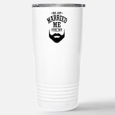 Married Beard Stainless Steel Travel Mug