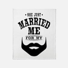 Married Beard Throw Blanket
