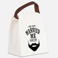Married Beard Canvas Lunch Bag