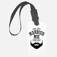 Married Beard Luggage Tag