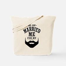 Married Beard Tote Bag