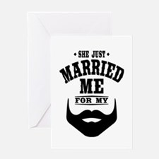 Married Beard Greeting Card